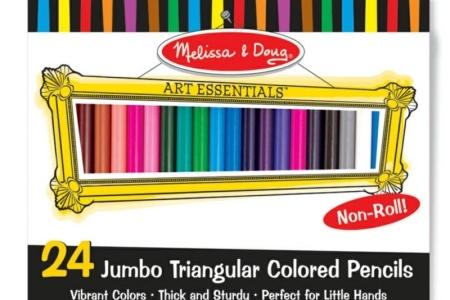 Jumbo Triangular Coloured Pencils (Set of 24) picture 1673