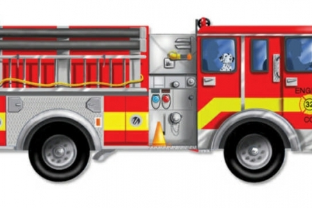 Giant Fire Truck Floor Puzzle picture 1651
