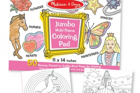 Jumbo Colouring Pad - Pink picture 1666