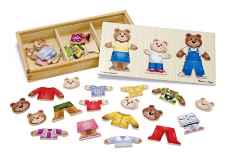 Wooden Bear Family Dress up picture 1805