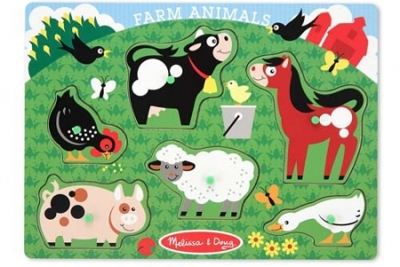 Farm Animal Peg Puzzle picture 2874